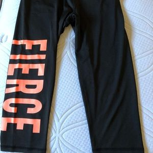 Cute Active Wear set. Bright coral on black